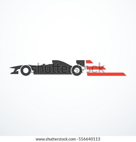 Formula race car icon