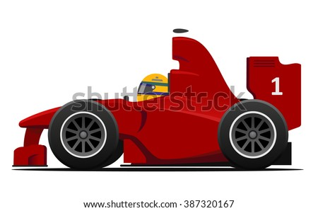 formula 1 race car red vector