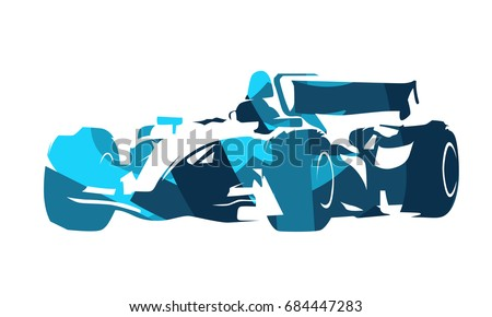 formula racing car  abstract