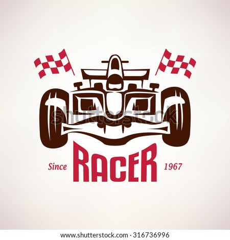 formula racing car emblem  race
