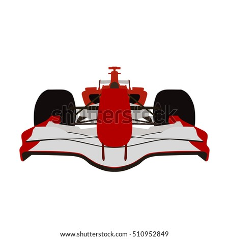 formula racing car  red sports