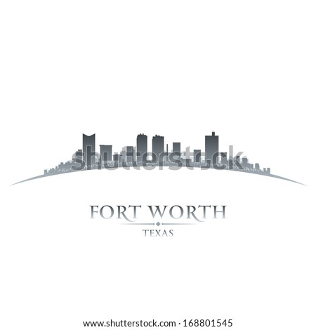 Fort Worth Texas city skyline silhouette. Vector illustration