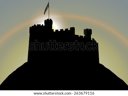 fortress silhouette vector