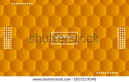 Fortuna gold honeycomb background. Vector abstract Fortuna gold background can be used for banners, cover designs, social media, posters, book designs, flyers, website backgrounds, and advertising. Foto stock ©