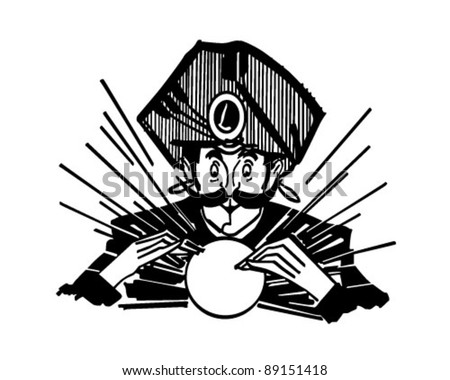 Fortune Teller 2 - Retro Clipart Illustration