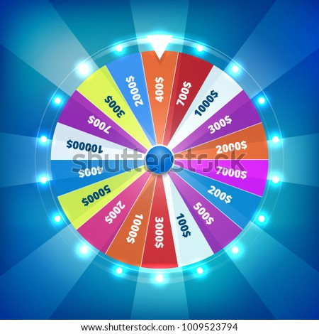 Fortune wheel spin vector illustration