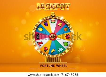 fortune wheel spinning  on