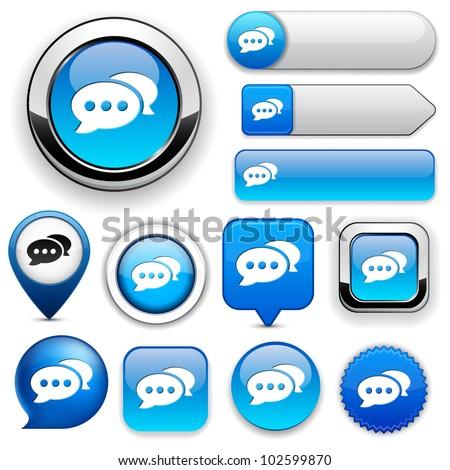 Forum blue design elements for website or app. Vector eps10.