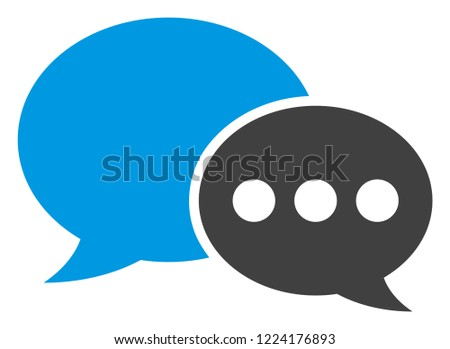 Forum messages icon on a white background. Isolated forum messages symbol with flat style.
