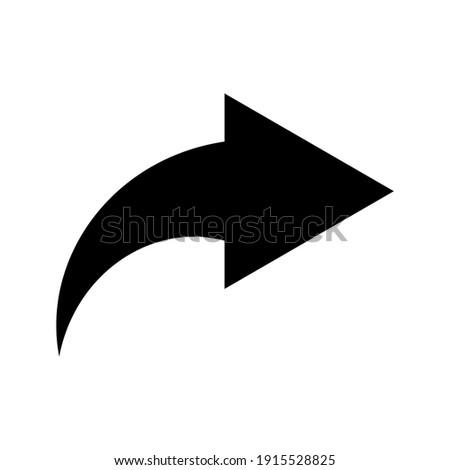 Forward icon. Arrow simple icon. Vector illustration Foto stock ©
