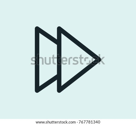 Forward icon line isolated on clean background. Next concept drawing forward icon line in modern style. Vector illustration of forward icon for your web site mobile logo app UI design.