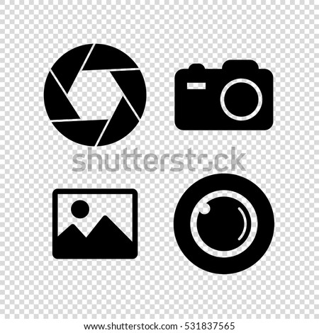 foto  camera vector icon set