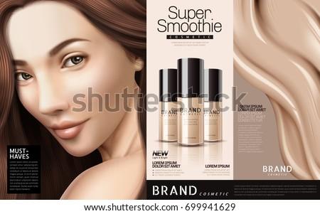 foundation cosmetic ads  three