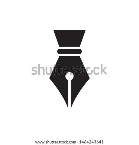 Fountain pen icon vector. Pen icon symbol. Simple design style on white background.