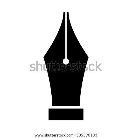 Fountain pen nib icon symbol