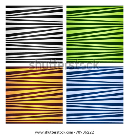 Four abstract striped backgrounds. Vector illustration.
