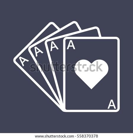 Four Ace icon Photo stock ©