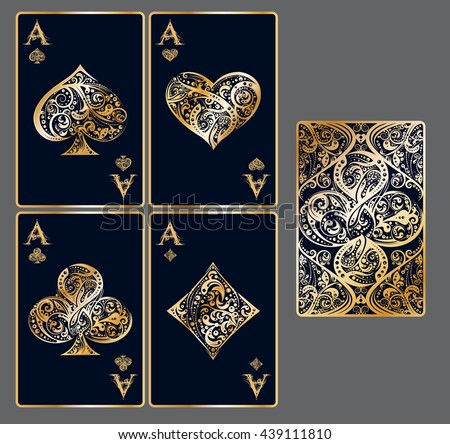 four aces set of vector
