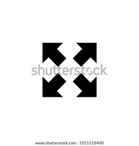 Four Arrows. Flat Vector Icon. Simple black symbol on white background