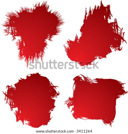 Four blood stain shapes that could be used as backgrounds #3411264