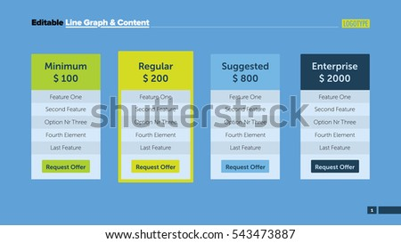 Four Business Offers Slide Template