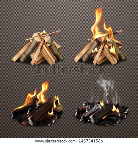 four campfire stages of burning