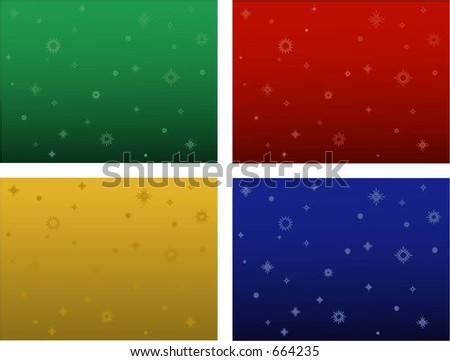 Four Christmas vector backgrounds. Can be used for many things - including ads and websites.
