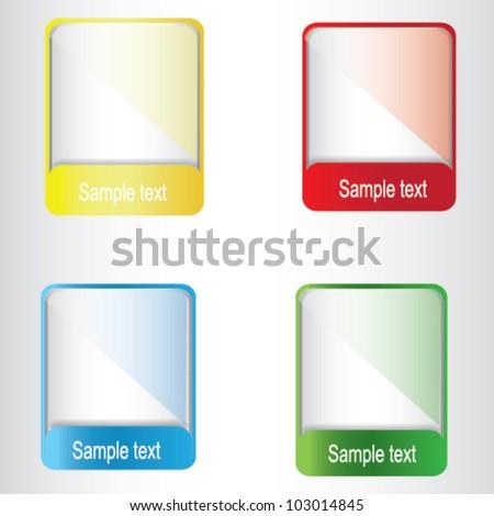 Four color text box