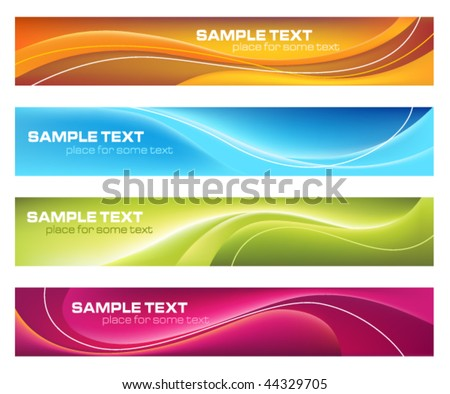 Four colorful banners - stock vector