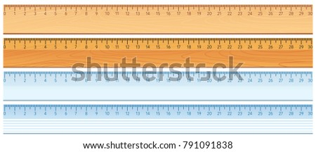 Four designs of rulers illustration