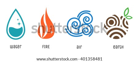 four elements flat style