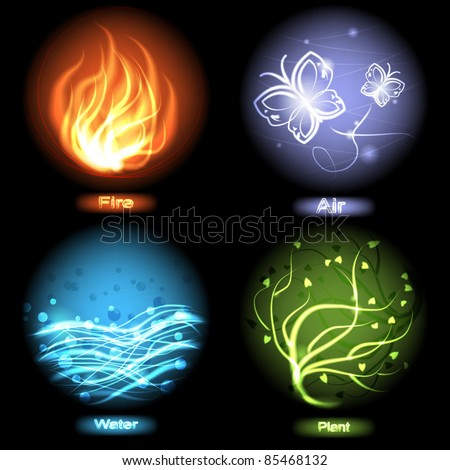 four elements of nature   fire