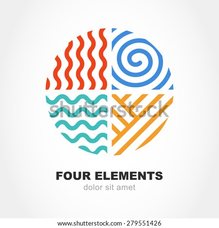 four elements simple line