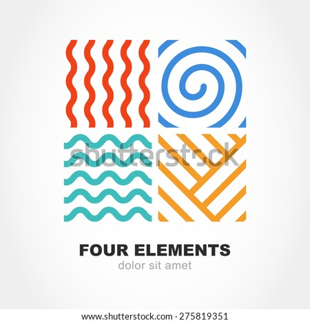 four elements simple line