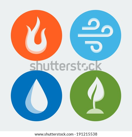 four elements   vector icons