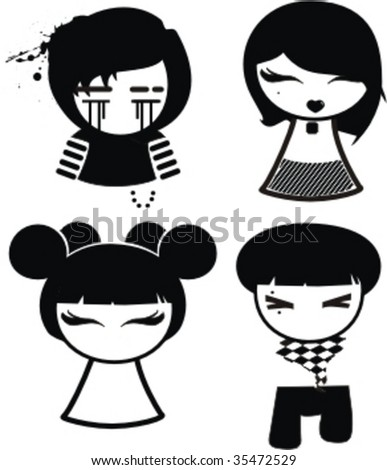 emo love cartoons cartoon. How To Draw Emo Love Cartoons.