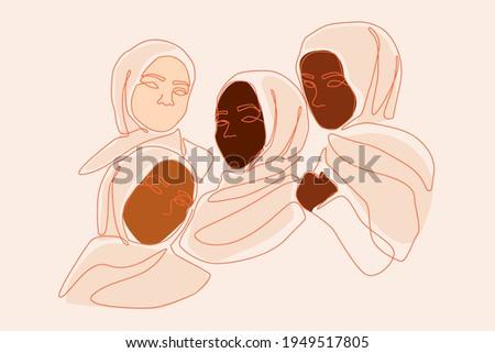 four female hijab friends