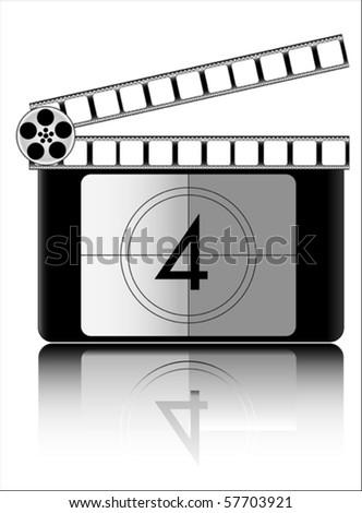 four Film countdown vector