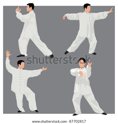 four forms of tai chi men wear