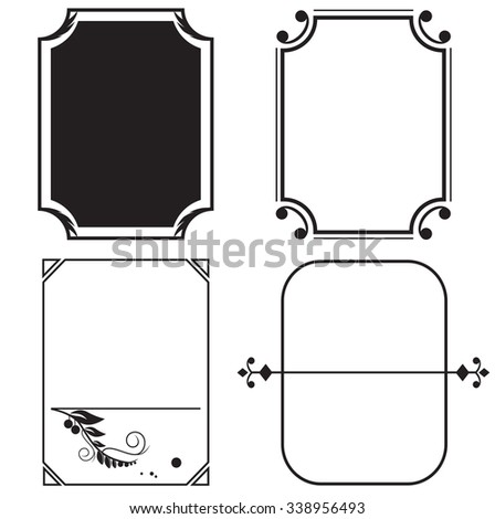 four frames for a photo, a vector, an illustration #338956493