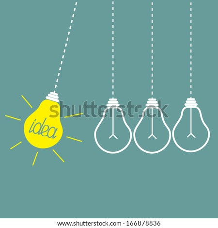 four hanging yellow light bulbs