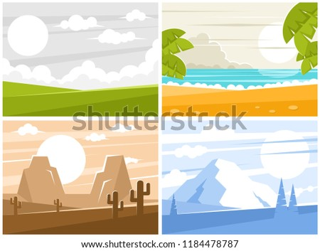 four images of sunrise or