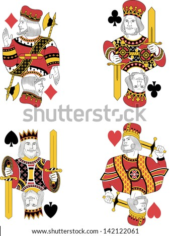 four kings without cards