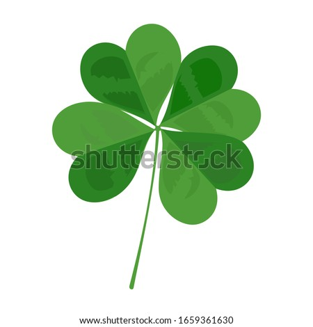 Four leaf clover and lucky leaf vector Foto d'archivio ©