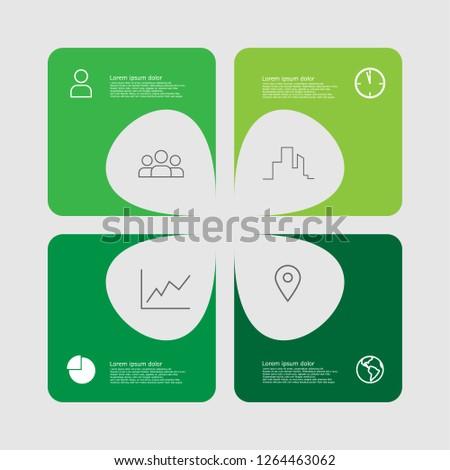 four leaf clover green color