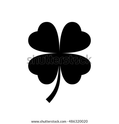 four leaf clover icon black