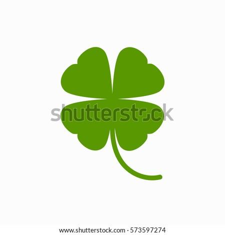 four leaf clover icon green