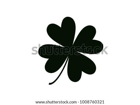 four leaf clover isolated on