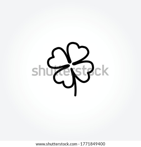 four leaf clover line icon. four leaf clover isolated line icon. four leaf clover. four leaf clover Foto d'archivio ©