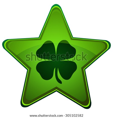 four leaf clover on a green